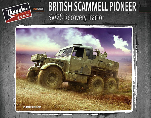 Thunder Model 1:35 British Scammel Pioneer SV2S box cover