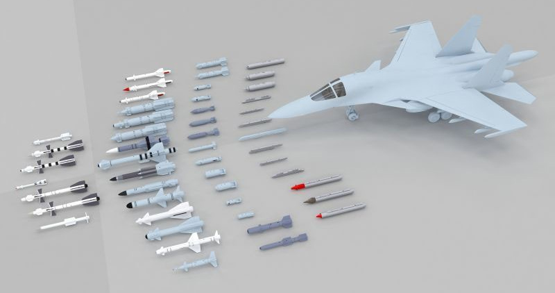 Kitty Hawk 1:48 Su-34 Fullback armaments