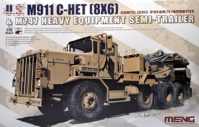 Meng 1:35 M911 C-HET (8X6) Tractor & M747 Semi-Trailer box cover