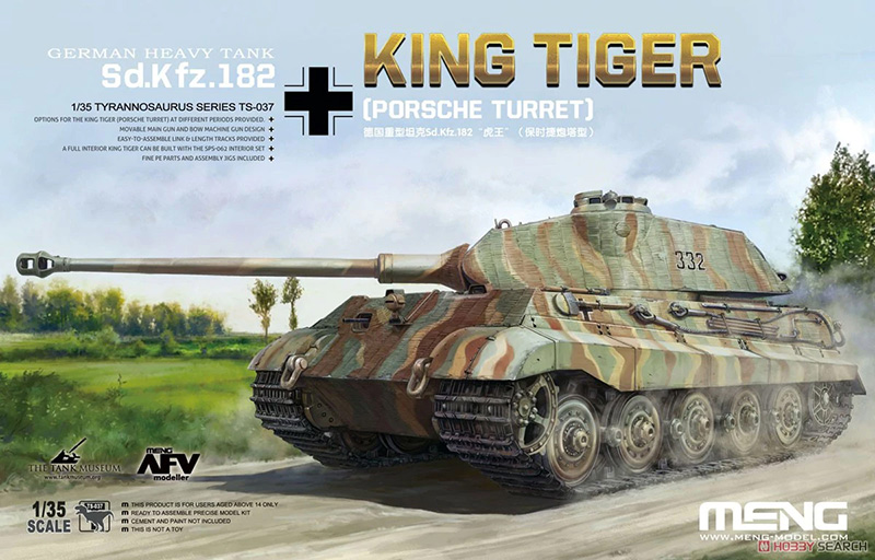 Meng 1:35 Sd.Kfz.182 King Tiger (Porsche Turret) box cover