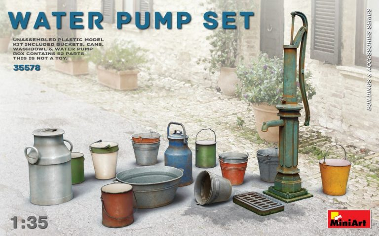 Miniart Building And Accessories 1/35 Water Pump Set Box