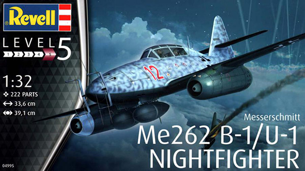 Revell 1:32 Messerschmitt Me 262B-1/U-1 Nightfighter box