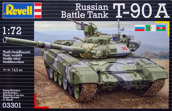 Revell 1/72 Russian Battle Tank T-90 A box