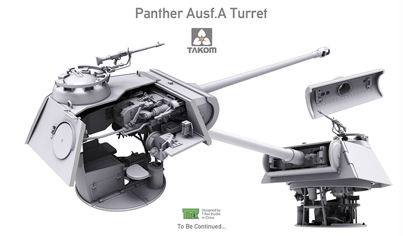 Takom 1/35 Panther Ausf A Mid-Early and Late Full Interior Kits