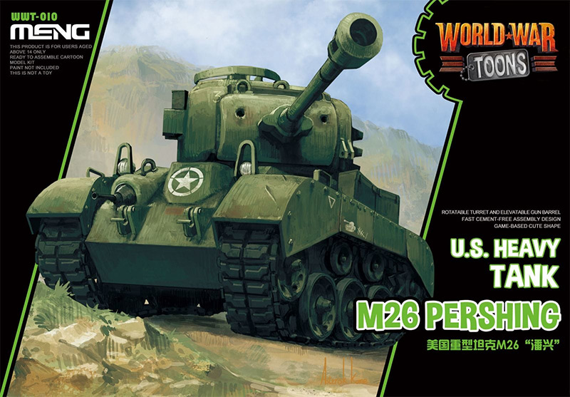Meng World War Toons M26 Pershing US Heavy tank