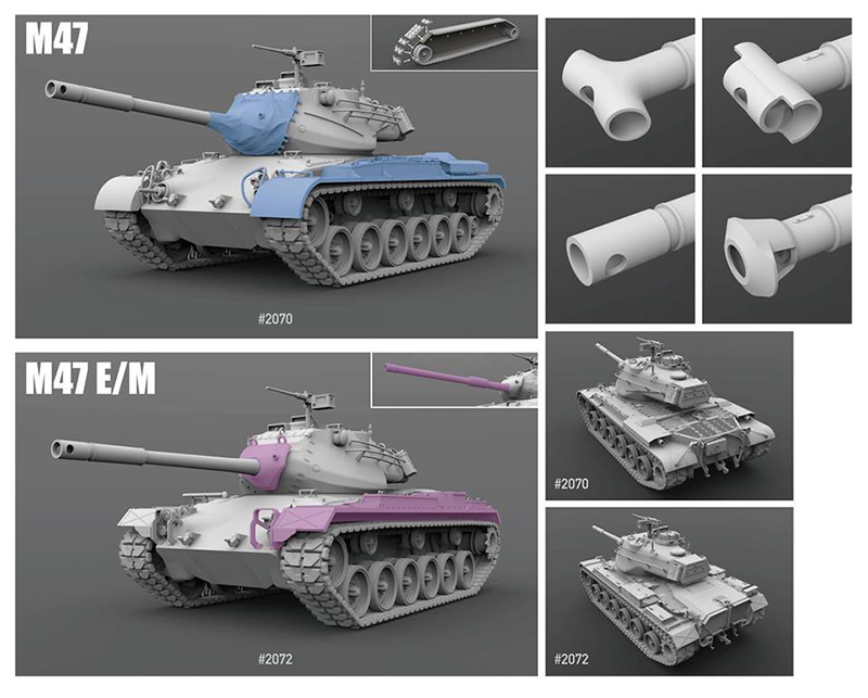 Takom 1/35 M47 kit variants